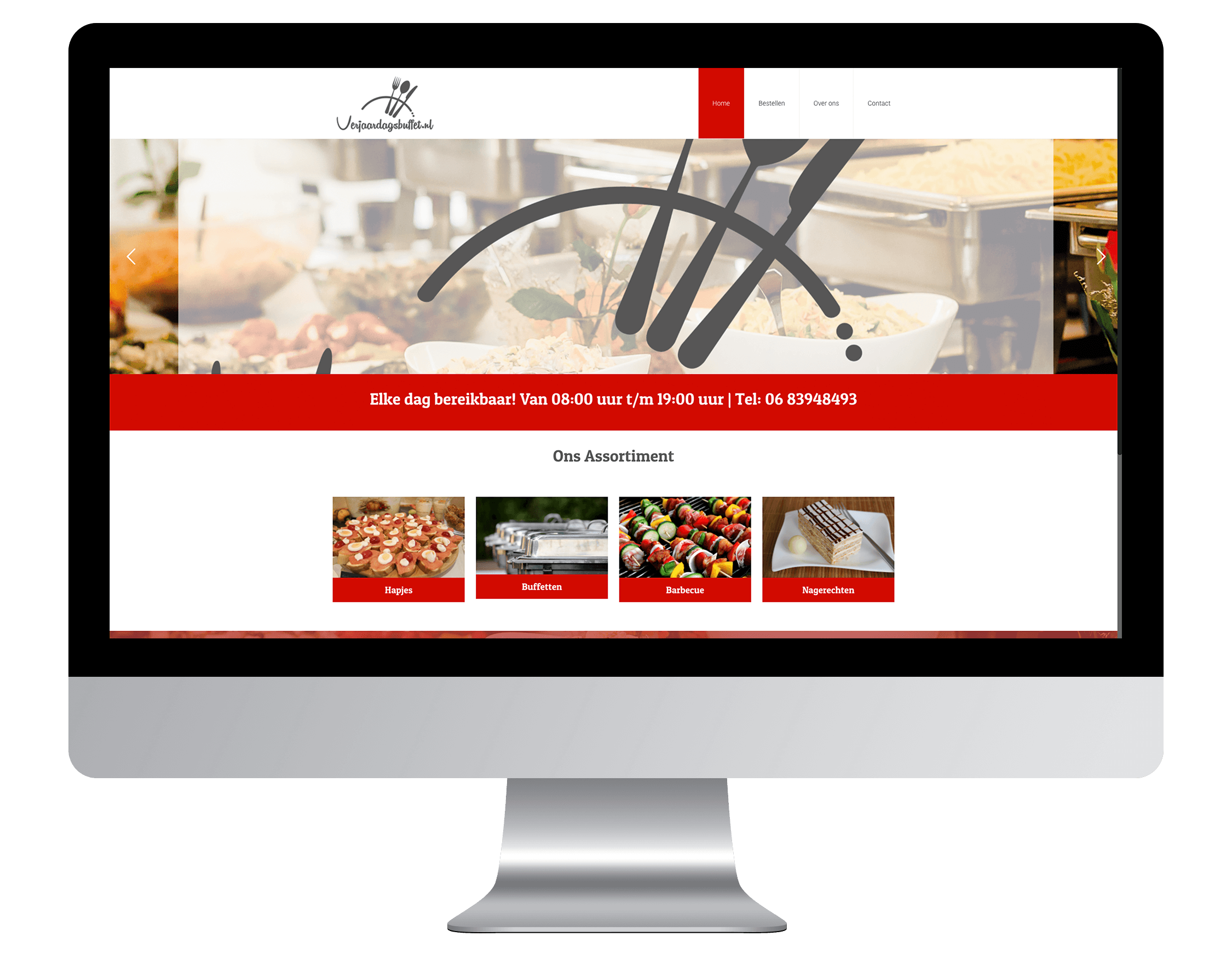 Een nieuwe website laten maken door Verjaardagsbuffetbestellen