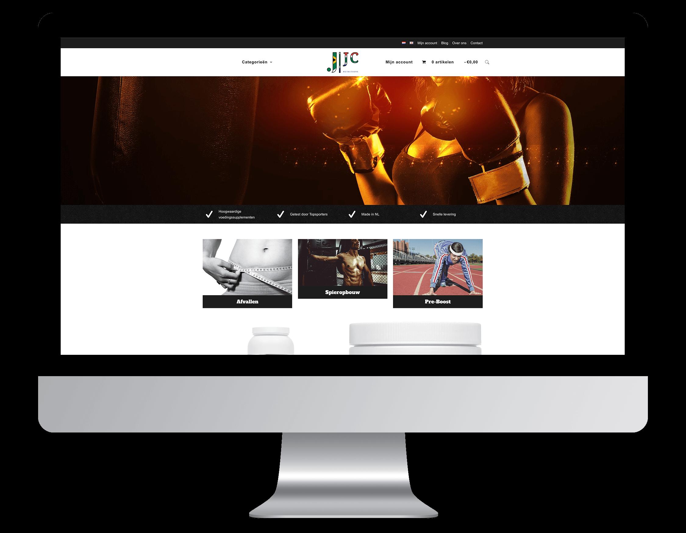 Webshop laten maken door JC Nutrition